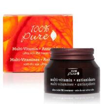 100% Pure Multivitamin + Antioxidáns Ultragazdag éjszakai PM arckrém (42,5 g)