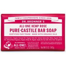 Dr. Bronner's Rózsa szilárd szappan (140 g)