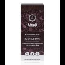Khadi Növényi hajfesték por sötétbarna (100 g)