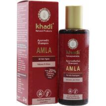 Khadi Ayurvédikus bio sampon - amla (tartás nélküli és fénytelen hajra) (210 ml)