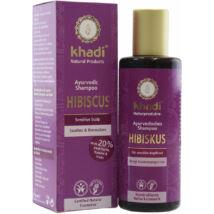 Khadi Ayurvédikus bio sampon - hibiszkusz (érzékeny bőrre) (210 ml)