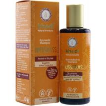 Khadi Ayurvédikus bio sampon - mandulafű (normál és zsíros hajra) (210 ml)