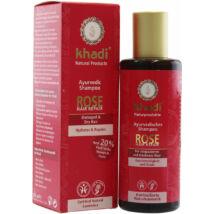 Khadi Ayurvédikus bio sampon - rózsa (sérült, töredezett hajra) (210 ml)