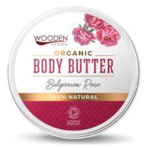 Wooden Spoon Bio testápoló vaj - Rózsás kényeztetés ÚJ