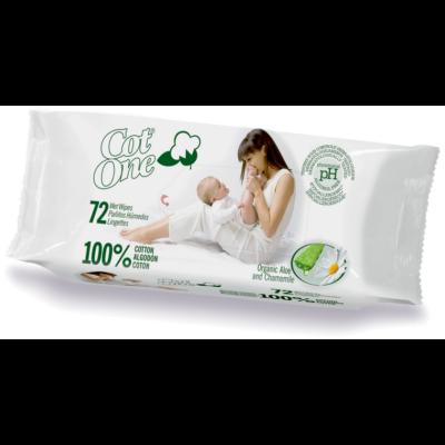 Cot One Bio baba törlőkendő (72 db)