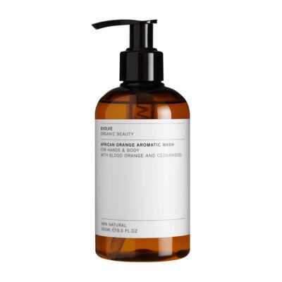 Evolve Beauty Afrikai narancs aromás kézmosó és tusfürdő (250 ml)