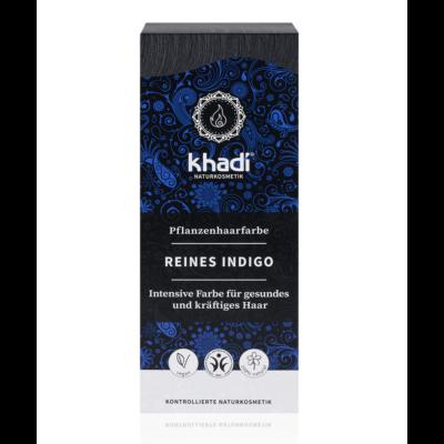 Khadi Növényi hajfesték por kékesfekete (indigó)