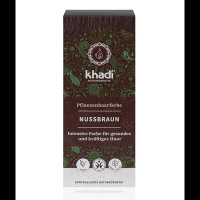 Khadi Növényi hajfesték por mogyoróbarna