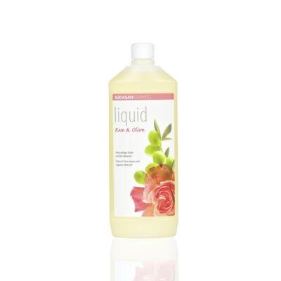 Sodasan BIO Folyékony szappan – rózsa-olíva