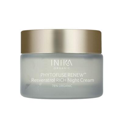 INIKA Skincare Phytofuse Renew Resveratrol Rich Bőrmegújító éjszakai krém (50 ml)