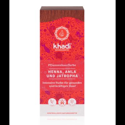 Khadi Növényi hajfesték por vörös (henna-amla-jatropha)