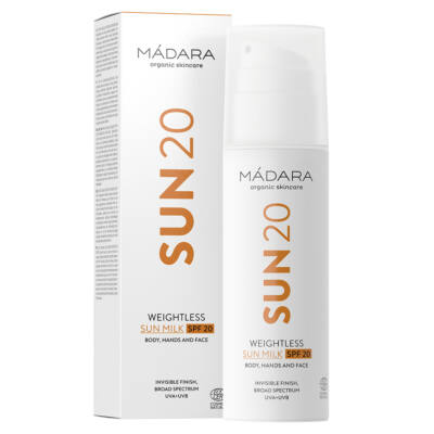 Mádara SUN 20 Súlytalan naptej SPF20 (150 ml)