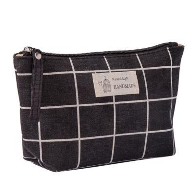 Mooi Kozmetikai táska - fekete kockás (1 db)