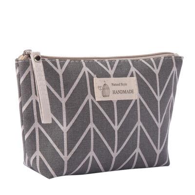 Mooi Kozmetikai táska - szürke csíkos (1 db)