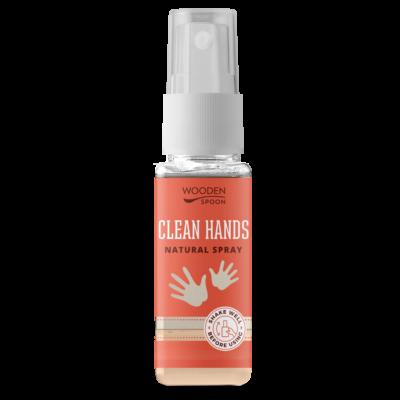 Wooden Spoon Natural - Kéztisztító spray az egész családnak (50 ml)