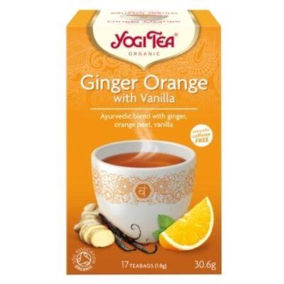 Yogi Narancsos gyömbér tea vaníliával - filteres (17 db)