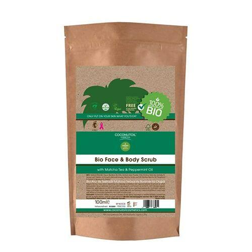 Coconutoil bio arc és testradír - matcha-borsmenta (100 ml)