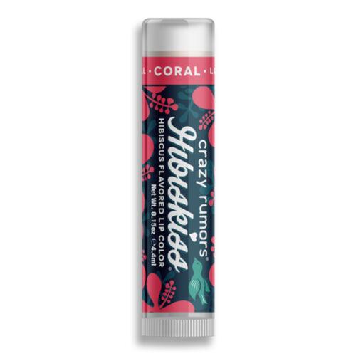Crazy rumors Hibiskiss színezett ajakápoló balzsam - Coral (4,25 g)