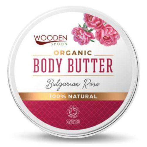 Wooden Spoon Bio testápoló vaj - Rózsás kényeztetés próba (15 ml)