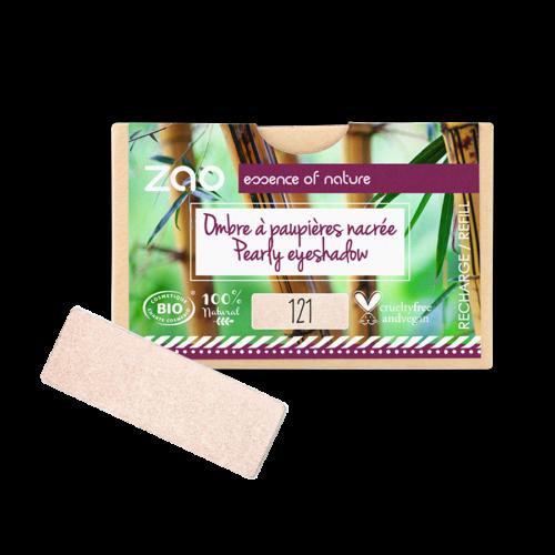 ZAO Szögletes szemhéjpúder 121 pearly ivory - utántöltő (1,3 g)
