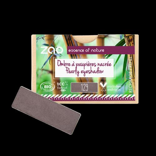 ZAO Szögletes szemhéjpúder 129 taupe - utántöltő (1,3 g)