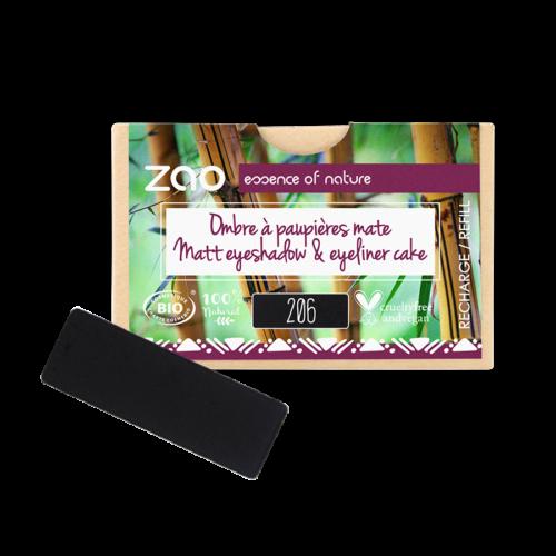 ZAO Szögletes szemhéjpúder 206 black - utántöltő (1,3 g)