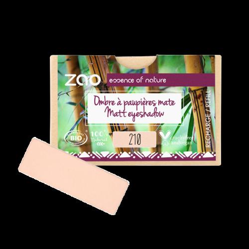 ZAO Szögletes szemhéjpúder 210 peachy pink - utántöltő (1,3 g)