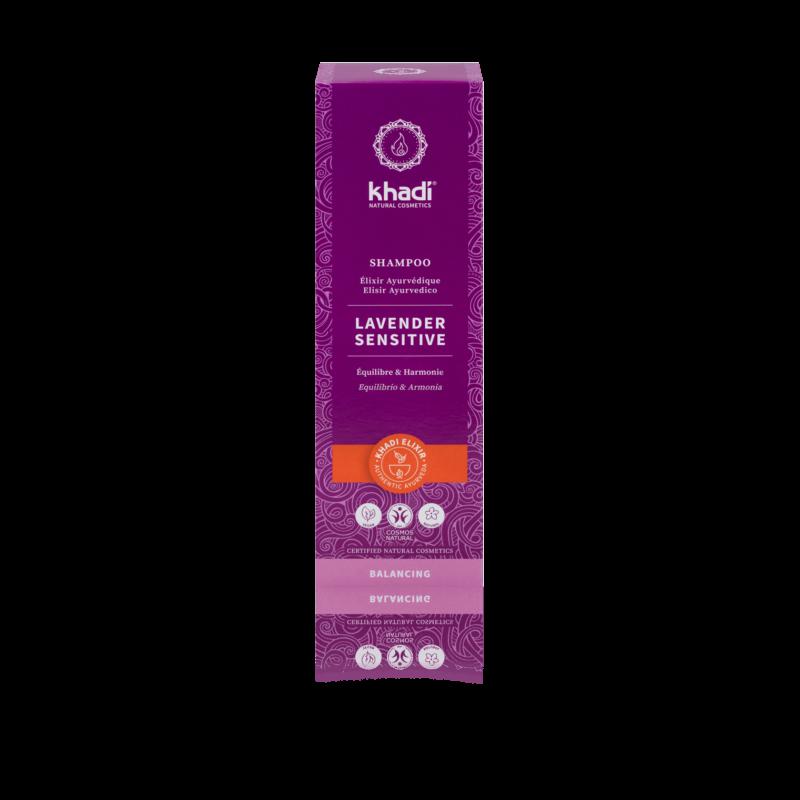 Khadi Levander Sensitive sampon ayurvédikus elixírrel (200 ml)