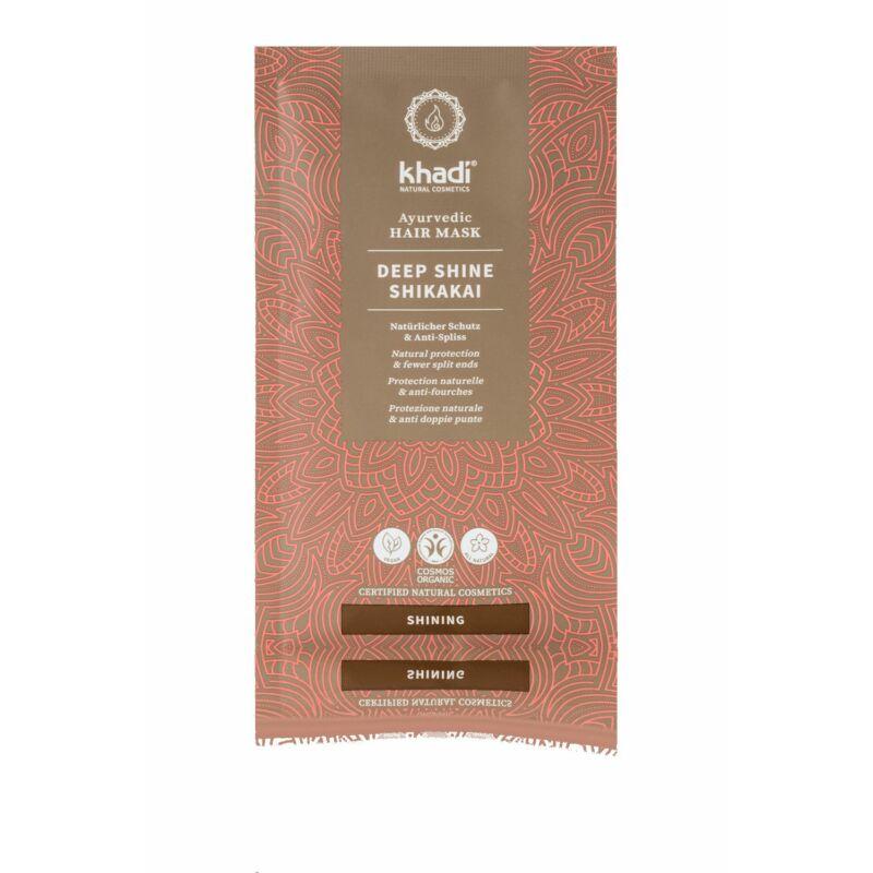 Khadi DEEP SHINE SHIKAKAI ayurvédikus hajpakolás(50 g)
