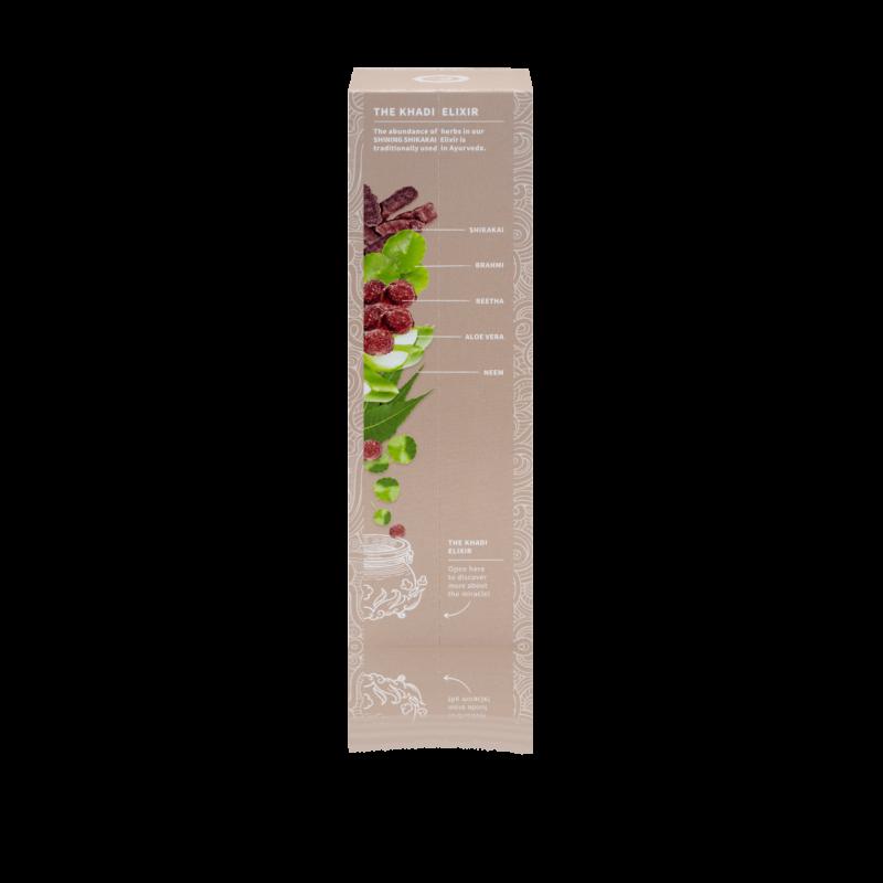 Khadi Shikakai Shine sampon ayurvédikus elixírrel (200 ml)
