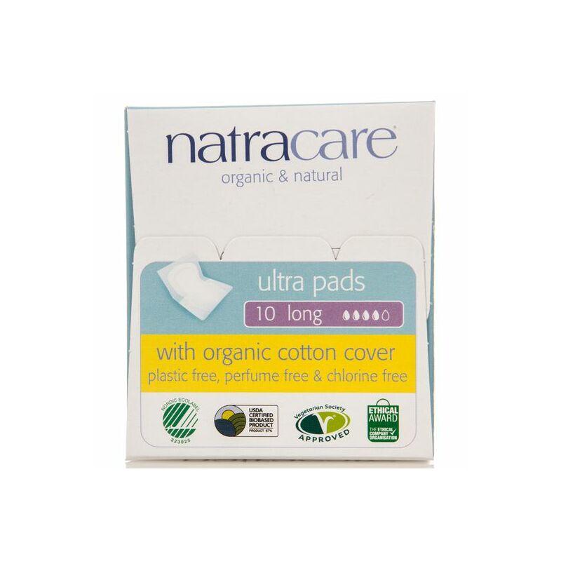 Natracare bio betét - szárnyas, hosszú (10 db)