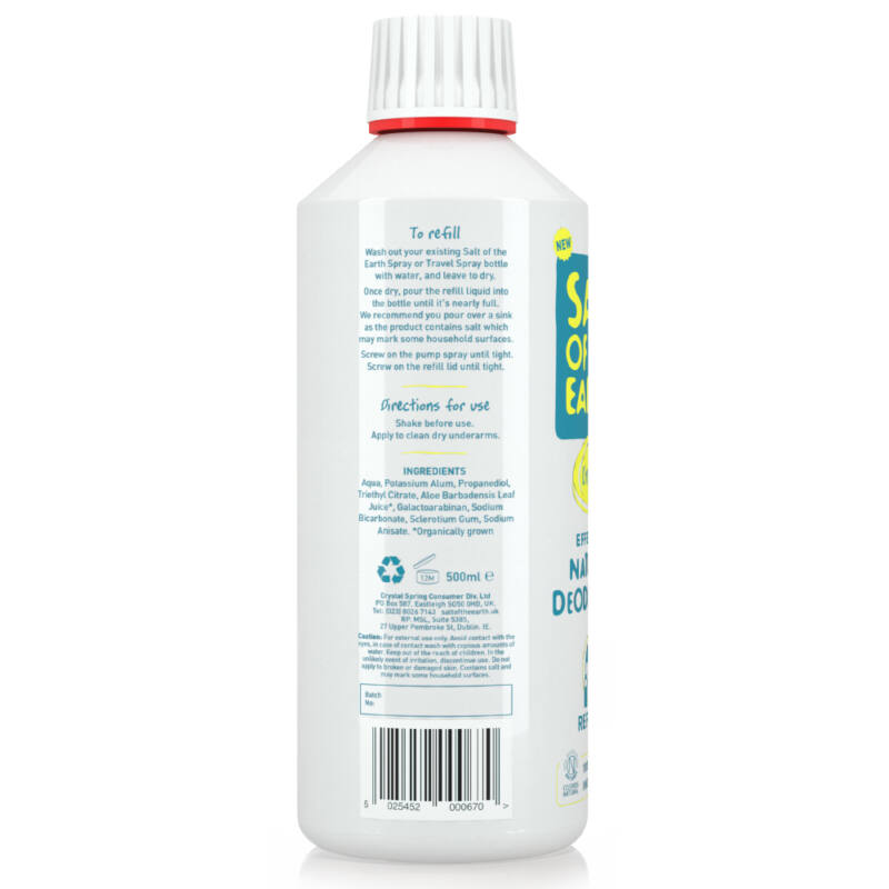 Salt of the Earth Illatmentes dezodor spray - utántöltő (500 ml)