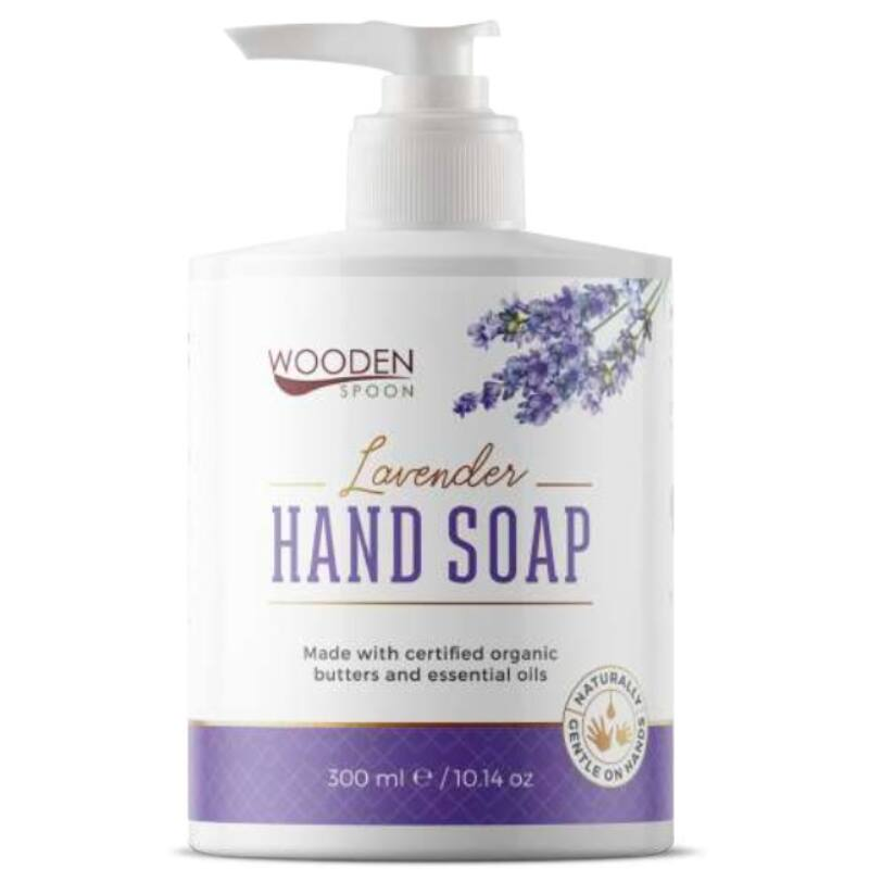 Wooden Spoon Bio folyékony kézmosó szappan – levendula (300 ml)