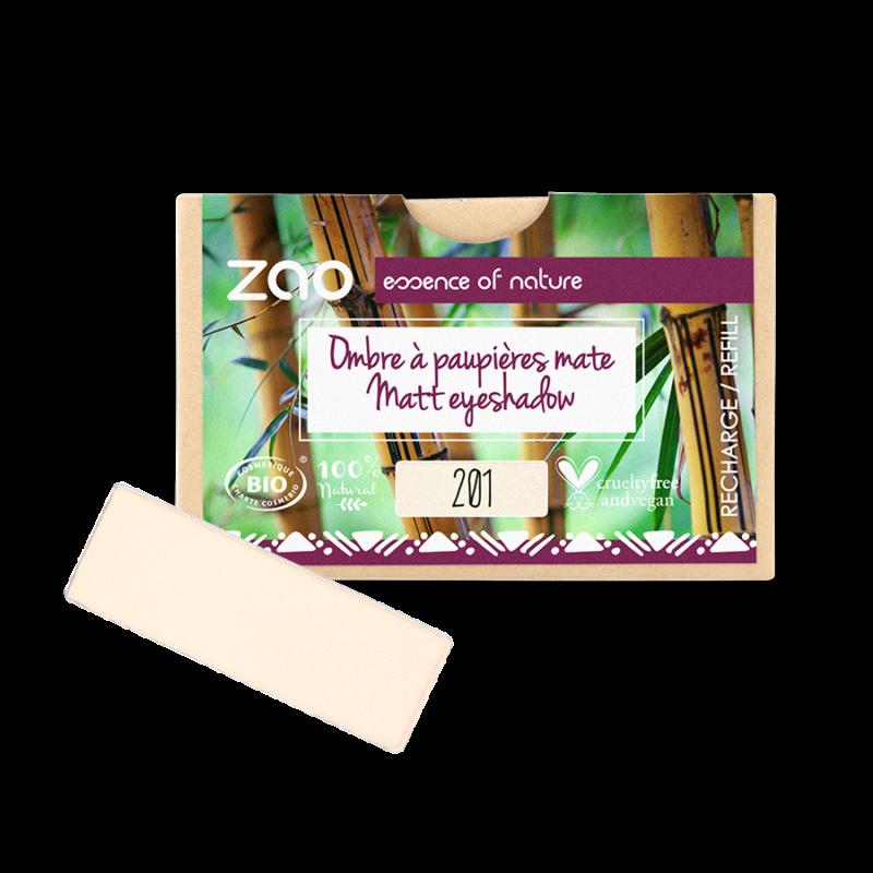 ZAO Szögletes szemhéjpúder 201 ivory - utántöltő (1,3 g)